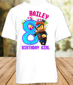 Legoland Lego Movie Lucy Wyldstyle Birthday Party Personalized T Shirt or Onesie - All Sizes - LMWS1