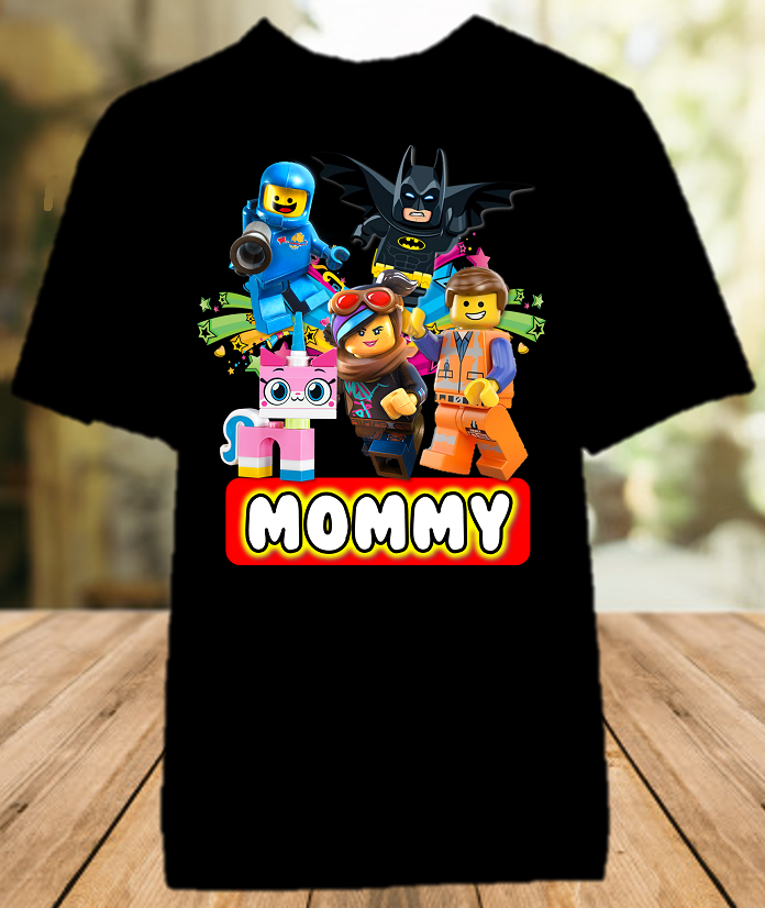 Legoland Lego Movie Birthday Party Personalized Mom Mommy Mother Color T Shirt - All Sizes - LMMCS1