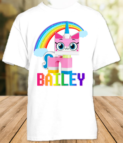 Legoland Lego Movie Unikitty Party Personalized T Shirt or Onesie - All Sizes - LMUPS1