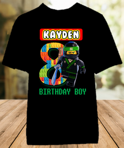 Legoland Lego Ninjago Lloyd Birthday Party Personalized Color T Shirt - All Sizes - LNLCS1