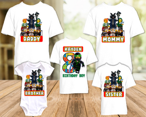 Legoland Lego Ninjago Lloyd Birthday Party Personalized T Shirt or Onesie - 5 Pack - LNL5P