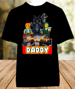 Legoland Lego Ninjago Birthday Party Personalized Dad Daddy Father Color T Shirt - All Sizes - LNDCS1