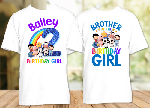 Little Baby Bum Birthday Party Personalized T Shirt or Onesie - 2 Pack - LBB2P
