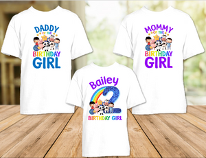 Little Baby Bum Birthday Party Personalized T Shirt or Onesie - 3 Pack - LBB3P