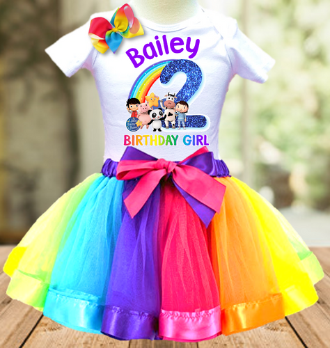 Little Baby Bum Birthday Party Personalized Ribbon Tutu Outfit - All Sizes - LBBTO02