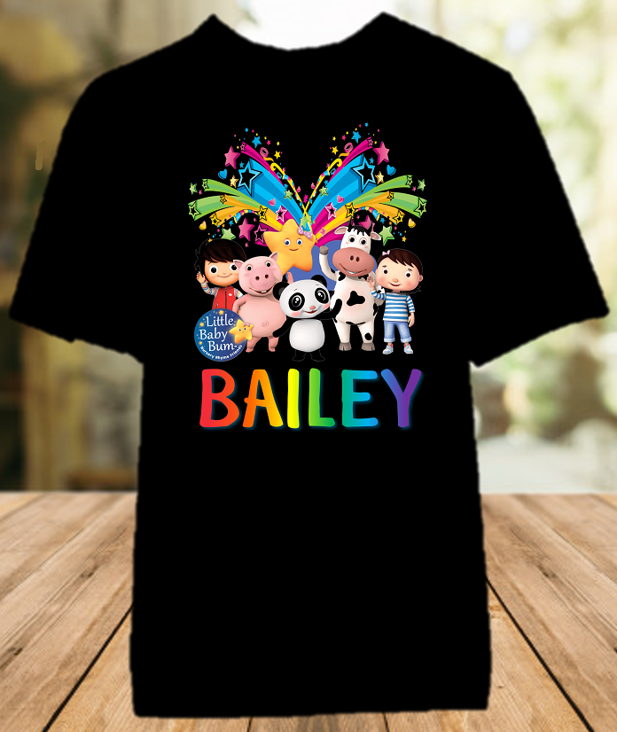 Little Baby Bum Party Personalized Color T Shirt - All Sizes - LBBPCS1
