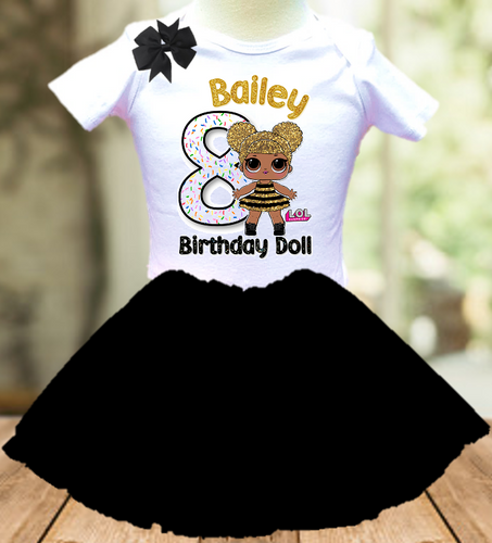 L.O.L. Surprise Dolls LOL Queen Bee Birthday Party Personalized Layer Tutu Outfit - All Sizes - LSTO04A