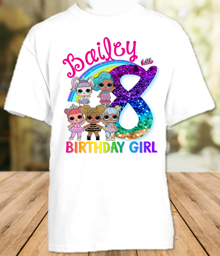L.O.L. Surprise Dolls LOL Rainbow Birthday Party Personalized T Shirt or Onesie - All Sizes - LOLRS1