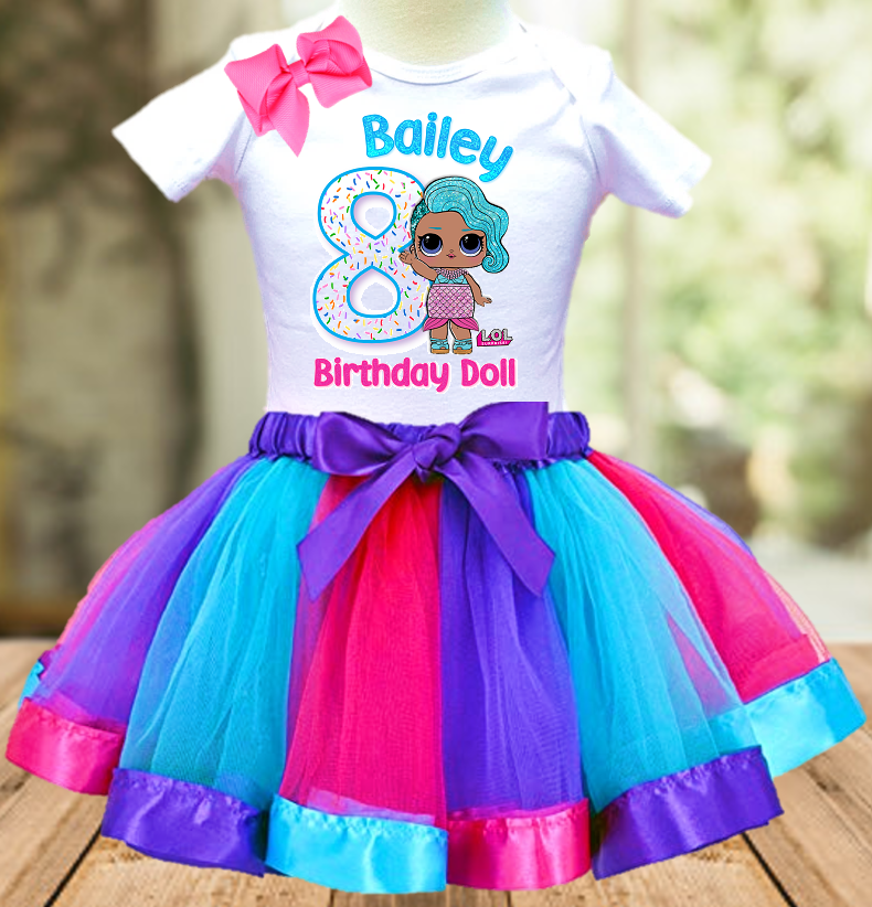 L.O.L. Surprise Dolls LOL Splash Queen Birthday Party Personalized Ribbon Tutu Outfit - All Sizes - LSTO05