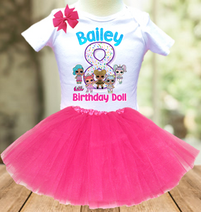 L.O.L. Surprise Dolls LOL Birthday Party Personalized Layer Tutu Outfit - All Sizes Available - LSTO01A