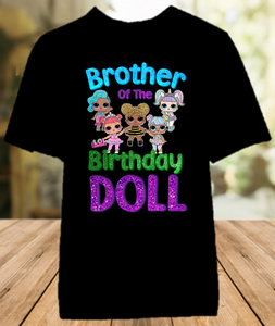 L.O.L. Surprise LOL Dolls Birthday Party Personalized Sibling Brother Color T Shirt - All Sizes - LOLBRCS1