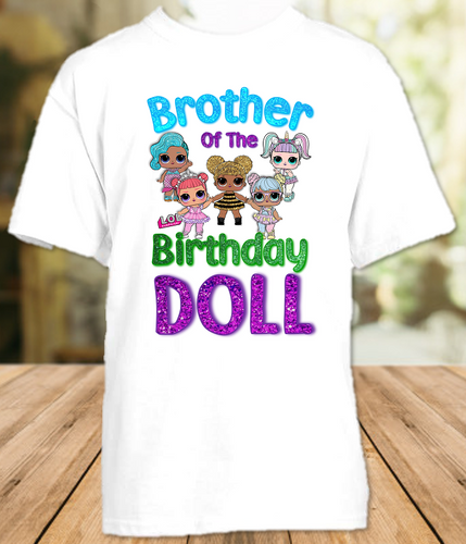 L.O.L. Surprise LOL Dolls Birthday Party Personalized Sibling Brother T Shirt or Onesie - All Sizes - LOLBRS1