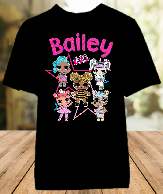 L.O.L. Surprise LOL Dolls Party Personalized Color T Shirt - All Sizes - LOLCS2