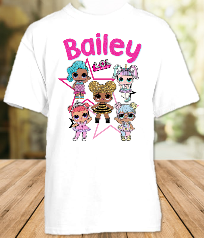 L.O.L. Surprise LOL Dolls Party Personalized T Shirt or Onesie - All Sizes - LOLS2
