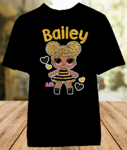 L.O.L. Surprise LOL Dolls Queen Bee Party Personalized Color T Shirt - All Sizes - LOLQCS2