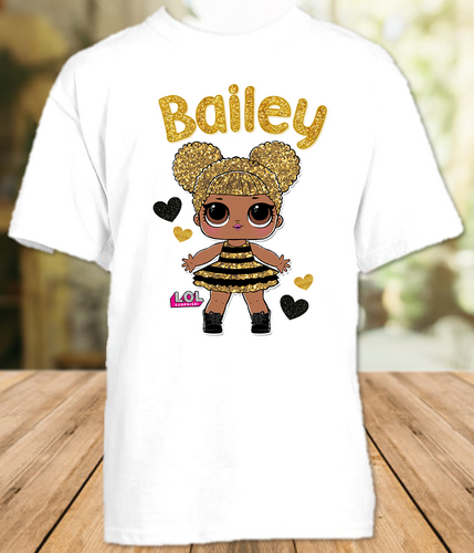 L.O.L. Surprise LOL Dolls Queen Bee Party Personalized T Shirt or Onesie - All Sizes - LOLQS2