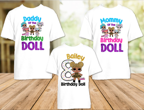 L.O.L. Surprise LOL Dolls Queen Bee Birthday Party Personalized T Shirt or Onesie - 3 Pack - LOLQ3P