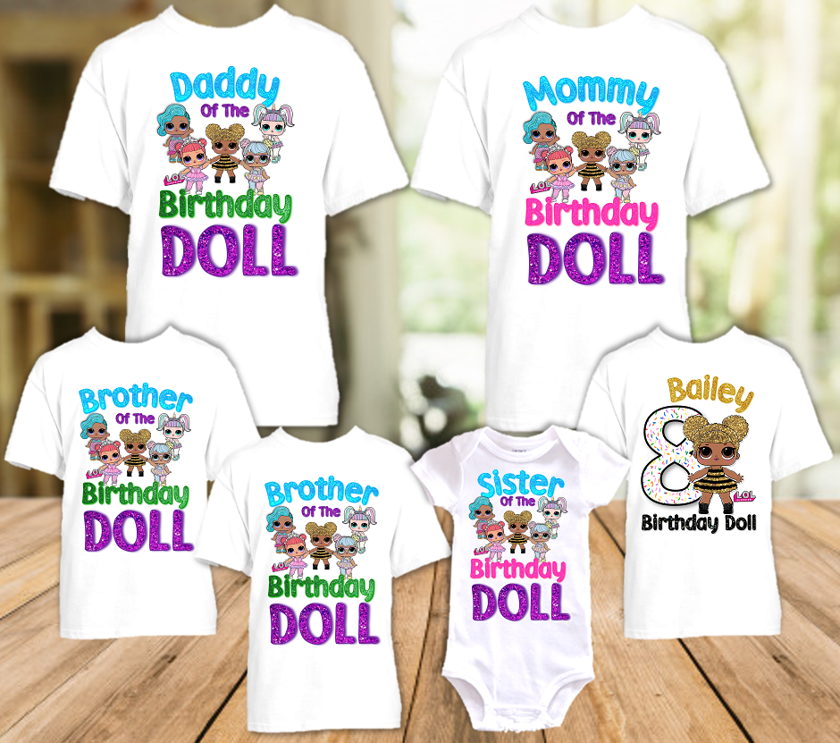 L.O.L. Surprise LOL Dolls Queen Bee Birthday Party Personalized T Shirt or Onesie - 6 Pack - LOLQ6P