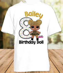 L.O.L. Surprise LOL Dolls Queen Bee Birthday Party Personalized T Shirt or Onesie - All Sizes - LOLQS1