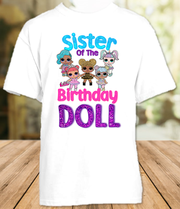 L.O.L. Surprise LOL Dolls Birthday Party Personalized Sibling Sister T Shirt or Onesie - All Sizes - LOLSIS1