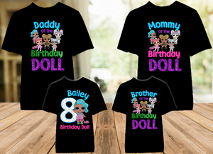 L.O.L. Surprise LOL Dolls Splash Queen Birthday Party Personalized Color T Shirt - 4 Pack - LOLSC4P