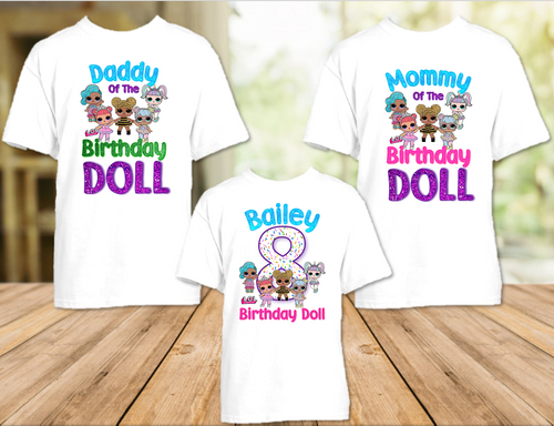 L.O.L. Surprise LOL Dolls Birthday Party Personalized T Shirt or Onesie - 3 Pack - LOL3P