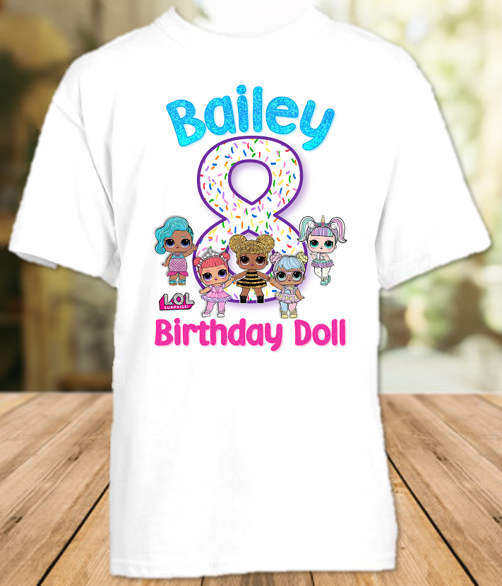 L.O.L. Surprise LOL Dolls Birthday Party Personalized T Shirt or Onesie - All Sizes - LOLS1