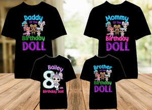 L.O.L. Surprise LOL Dolls Unicorn Birthday Party Personalized Color T Shirt - 4 Pack - LOLUC4P