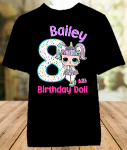 L.O.L. Surprise LOL Dolls Unicorn Birthday Party Personalized Color T Shirt - All Sizes - LOLUCS1