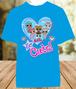 L.O.L. Surprise LOL Dolls So Cute Color T Shirt - All Sizes - LOLCUCS1