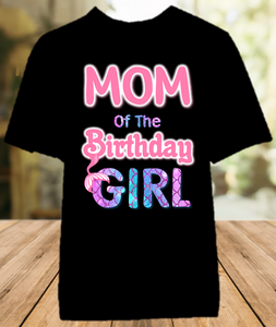 Mermaid Birthday Party Personalized Parent Mom Mommy Mother Color T Shirt - All Sizes - MMOCS1