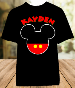 Mickey Mouse Ears Party Personalized Color T Shirt - All Sizes - MMEPCS1