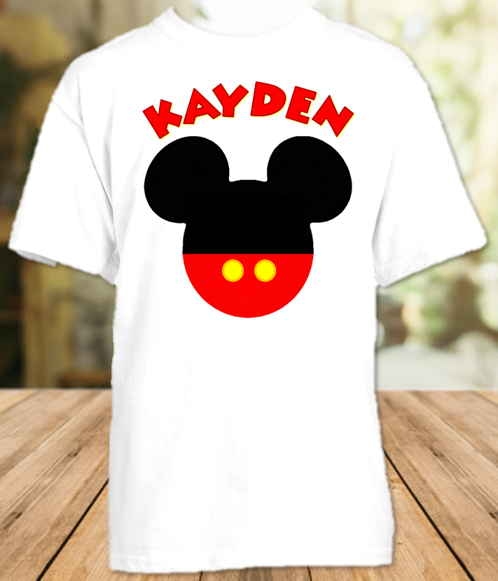 Mickey Mouse Ears Party Personalized T Shirt or Onesie - All Sizes - MMEPS1