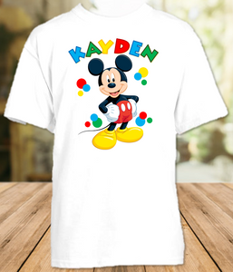 Mickey Mouse Party Personalized T Shirt or Onesie - All Sizes - MIMPS1