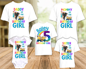 Despicable Me Minions Birthday Party Personalized T Shirt or Onesie - 5 Pack - DEMI5P
