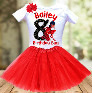 Miraculous Ladybug Birthday Party Personalized Layer Tutu Outfit - All Sizes - MLTO01