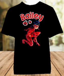 Miraculous Ladybug Party Personalized Color T Shirt - All Sizes - MLPECS1