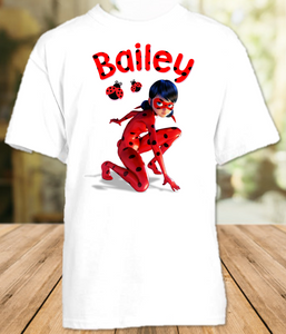 Miraculous Ladybug Party Personalized T Shirt or Onesie - All Sizes - MLPES1