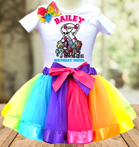 Monster High Birthday Party Personalized Ribbon Tutu Outfit - All Sizes Available - MHTO01