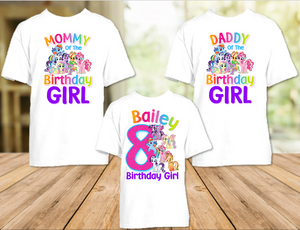 My Little Pony Birthday Party Personalized T Shirt or Onesie - 3 Pack - MLP3P