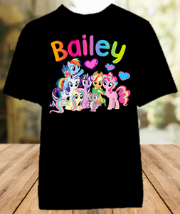 My Little Pony Party Personalized Color T Shirt - All Sizes - MLPPCS1
