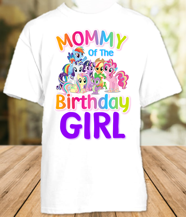 My Little Pony Birthday Party Personalized Mom Mommy Mother T Shirt - All Sizes - MLPMS1