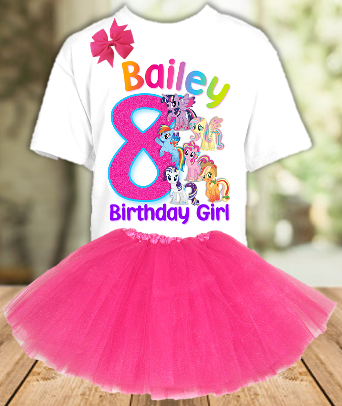 My Little Pony Birthday Party Personalized Layer Tutu Outfit - All Sizes Available - LPTO01A