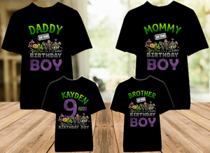 Plants vs Zombies Birthday Party Personalized Color T Shirt - 4 Pack - PVZC4P