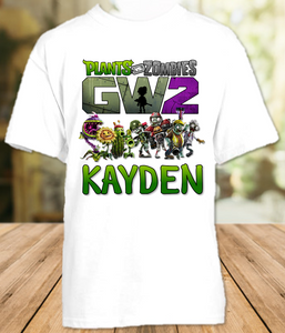 Plants vs Zombies Party Personalized T Shirt or Onesie - All Sizes - PVZPS1