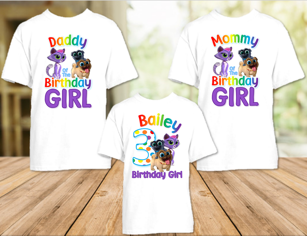 Puppy Dog Pals Birthday Party Personalized T Shirt or Onesie - 3 Pack - PDP3P