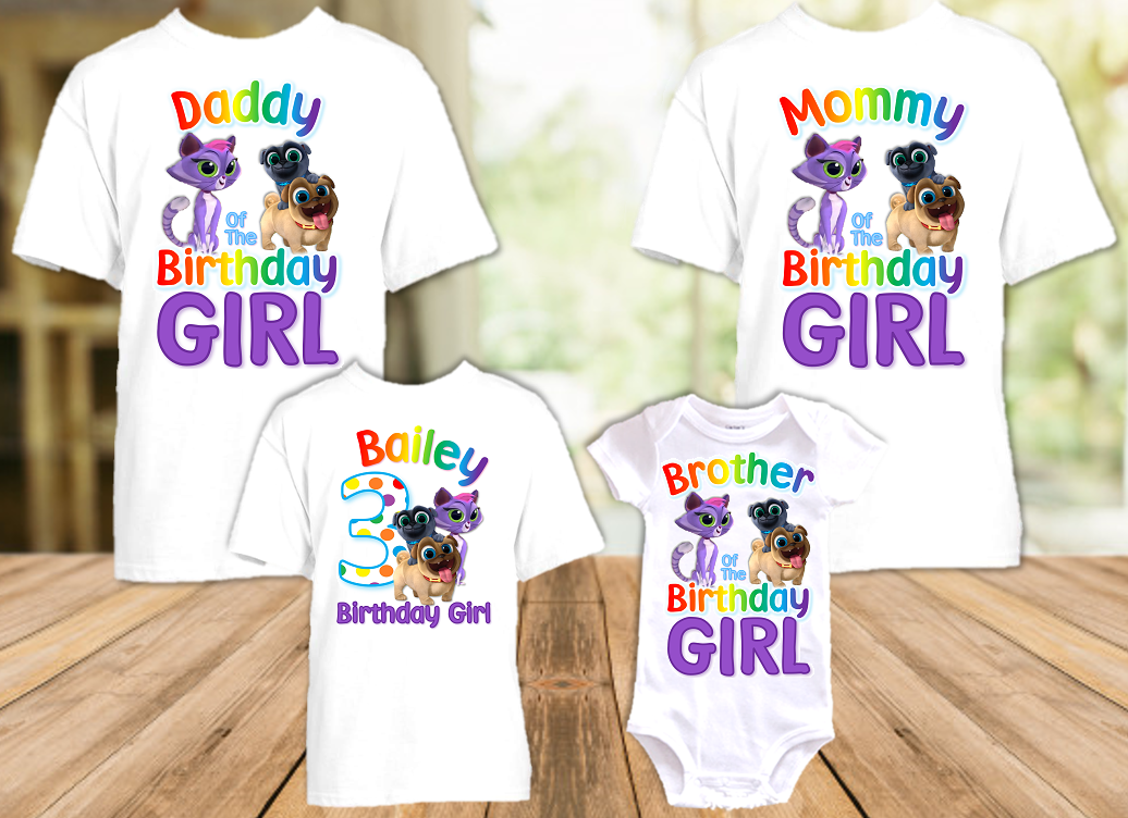 Puppy Dog Pals Birthday Party Personalized T Shirt or Onesie - 4 Pack - PDP4P