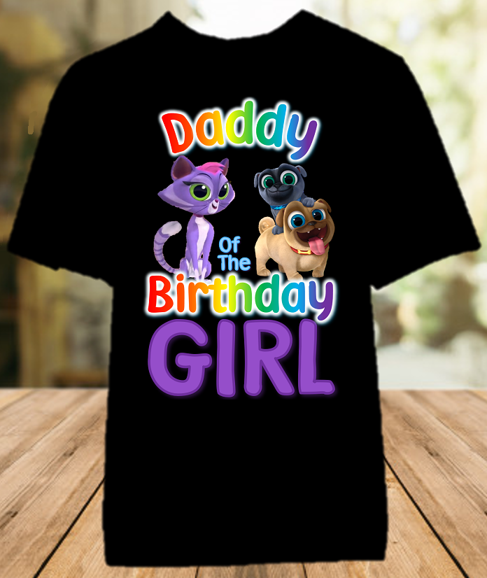 Puppy Dog Pals Birthday Party Personalized Dad Daddy Father Color T Shirt - All Sizes - PDPDCS1