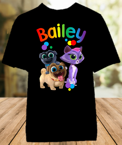 Puppy Dog Pals Party Personalized Color T Shirt - All Sizes - PDPPCS1