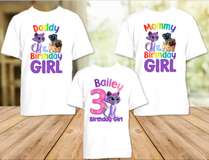 Puppy Dog Pals Hissy Birthday Party Personalized T Shirt or Onesie - 3 Pack - PDPH3P